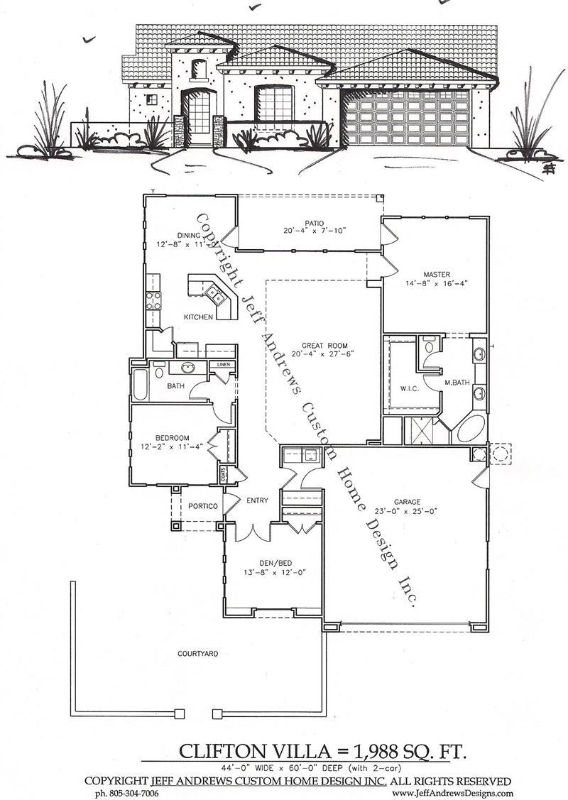 Clifton Villa $1,988.00 – Andrews Home Design Group | St. George, Utah