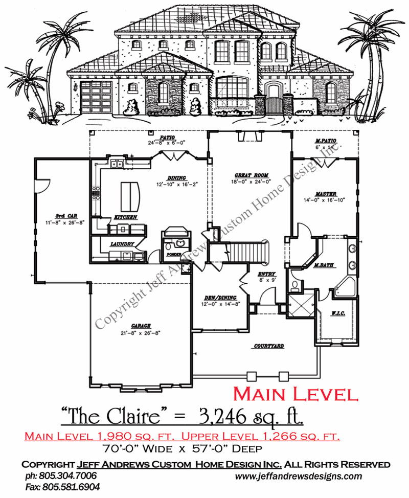 The Claire 3 Andrews Home Design Group St